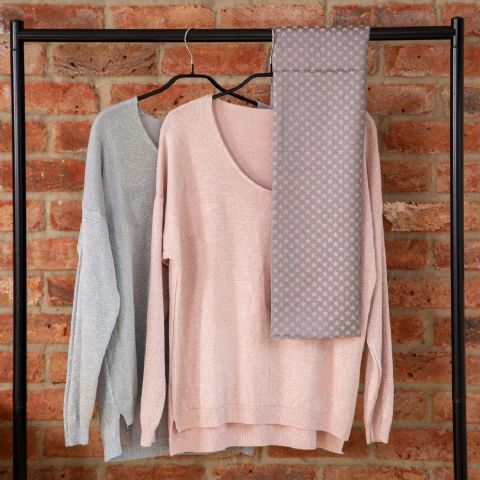 SOFT V NECK JUMPER 3 STARS SILVER
